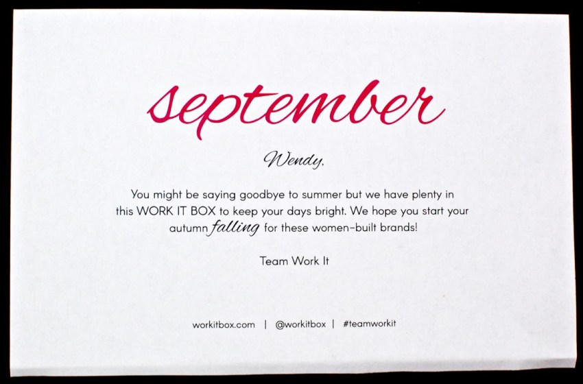 September Work it Box