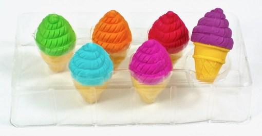 ice cream cone erasers
