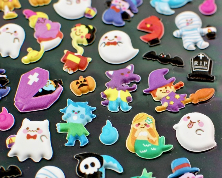 puffy halloween stickers