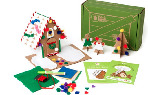 kiwi crate gingerbread house