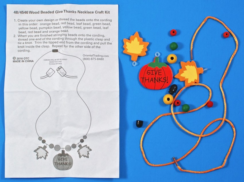fall necklace craft