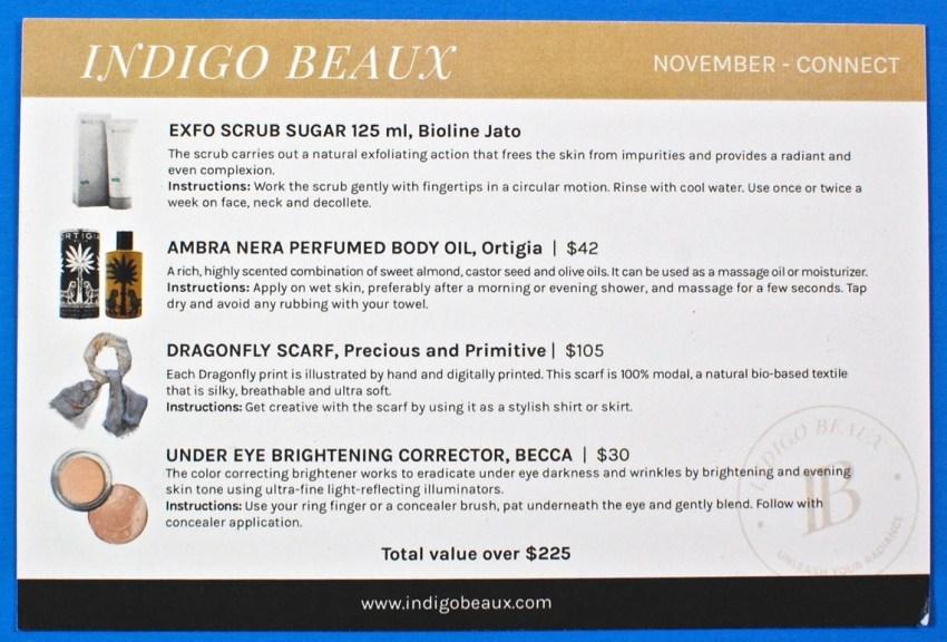 Indigo Beaux box review