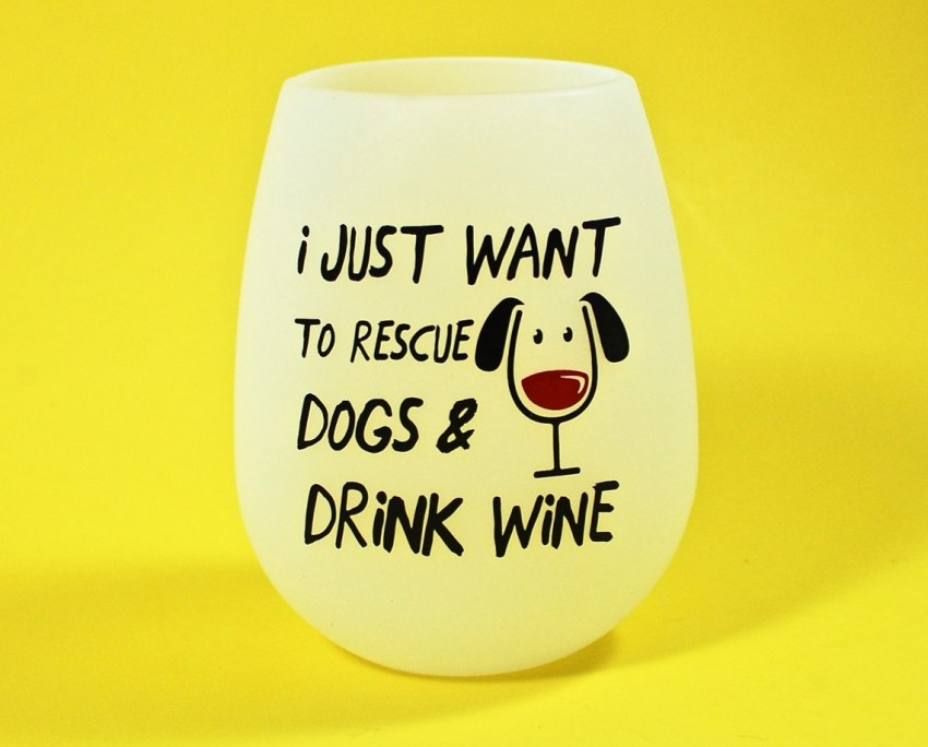 dog wine glass
