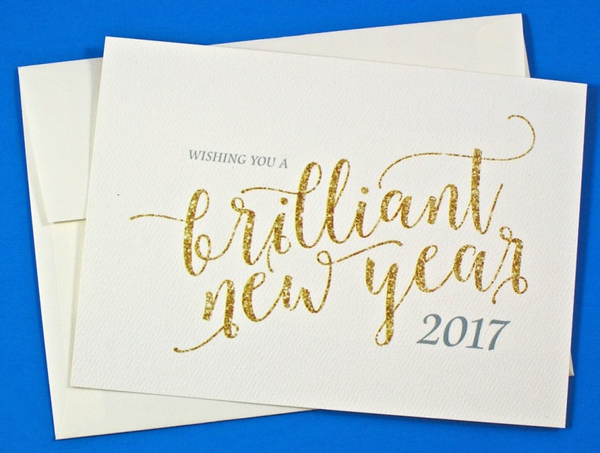 Brilliant New Year card