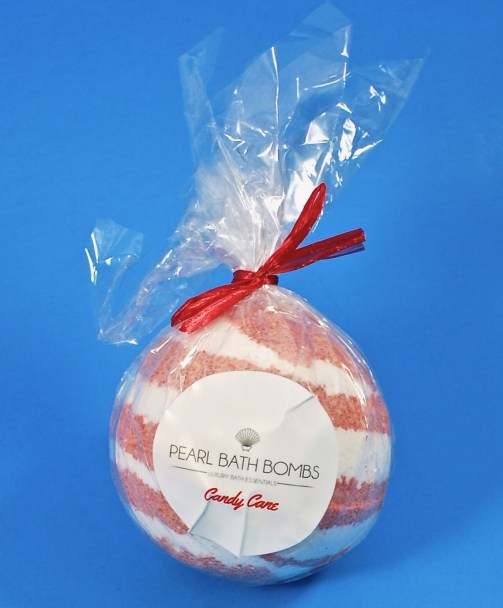 Pearl Bath Bomb candy cane