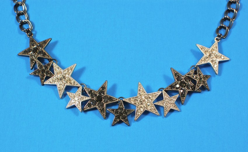 Camilla hematite star necklace