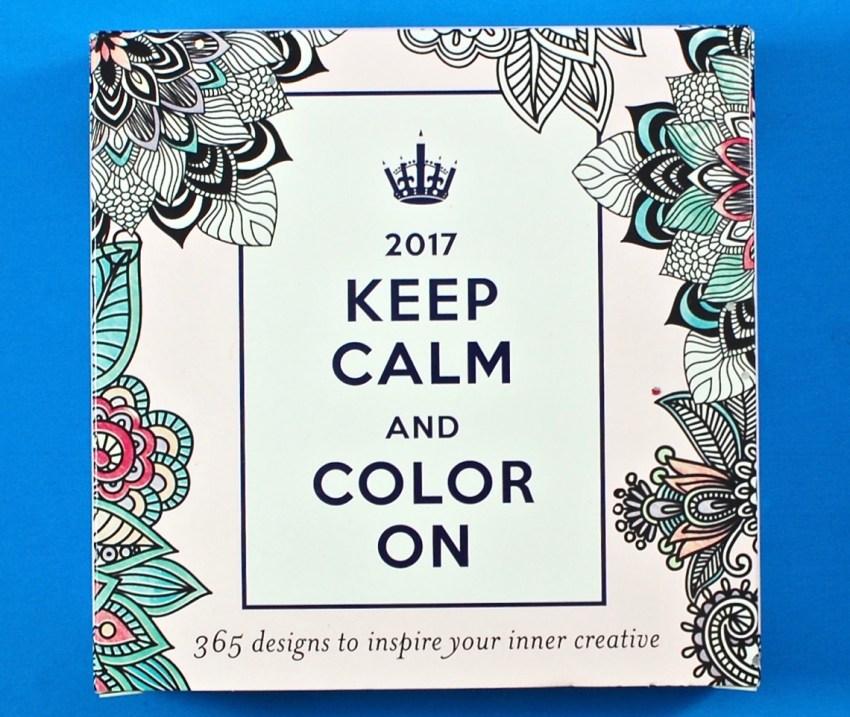 Color a Day calendar