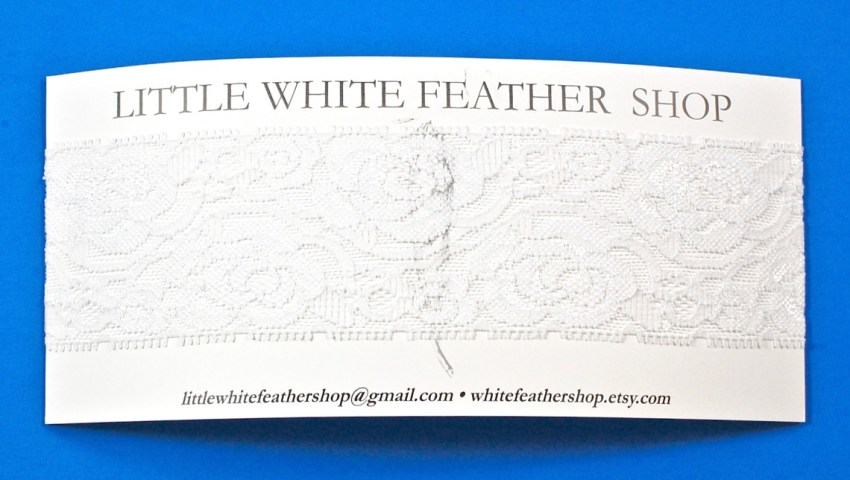 Little White Feather headband