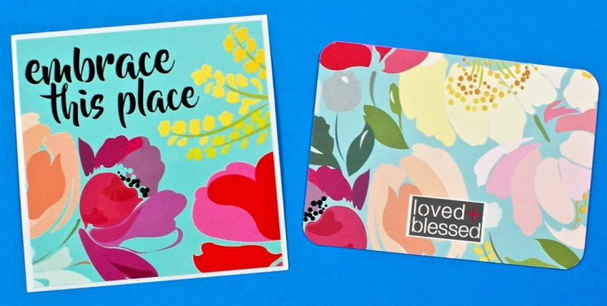 loved + blessed scripture card