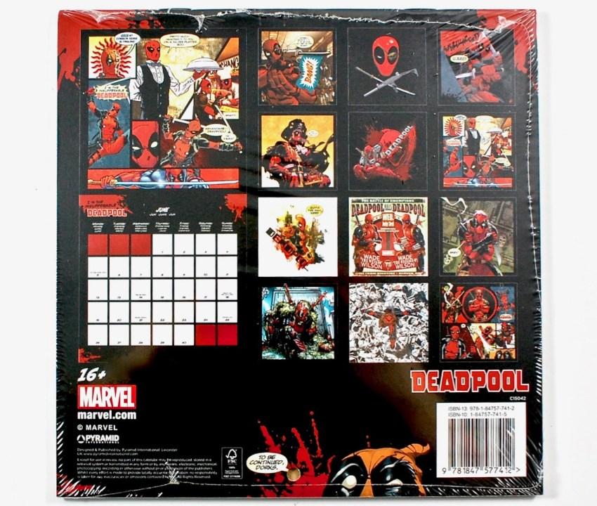 Deadpool 2017 calender