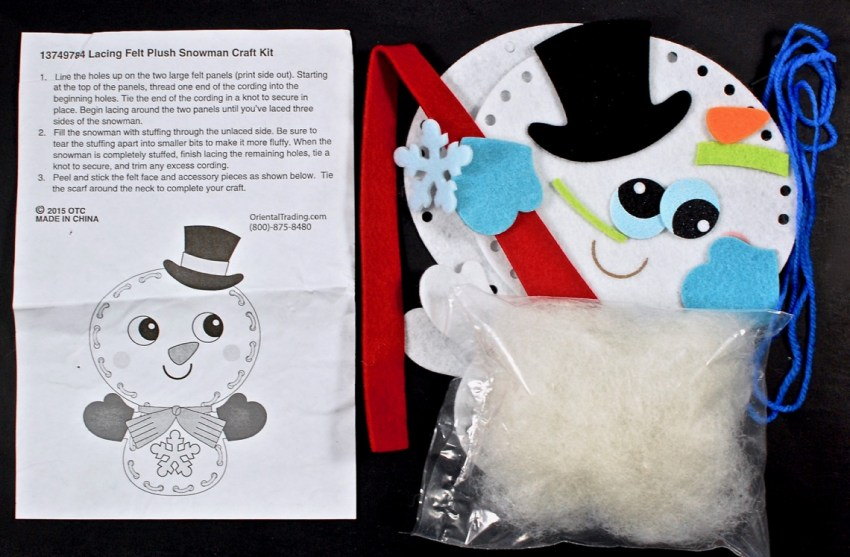 snowman lacing craft