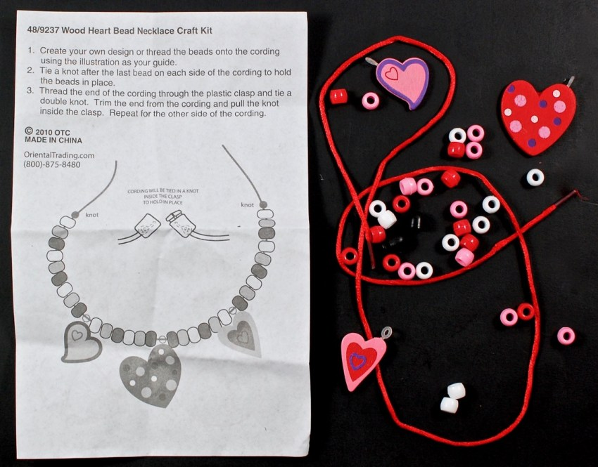 heart necklace craft