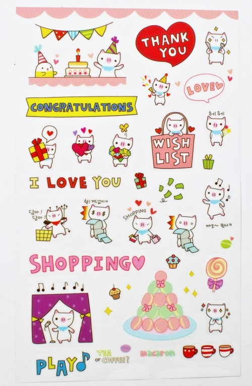 kawaii pig stickers
