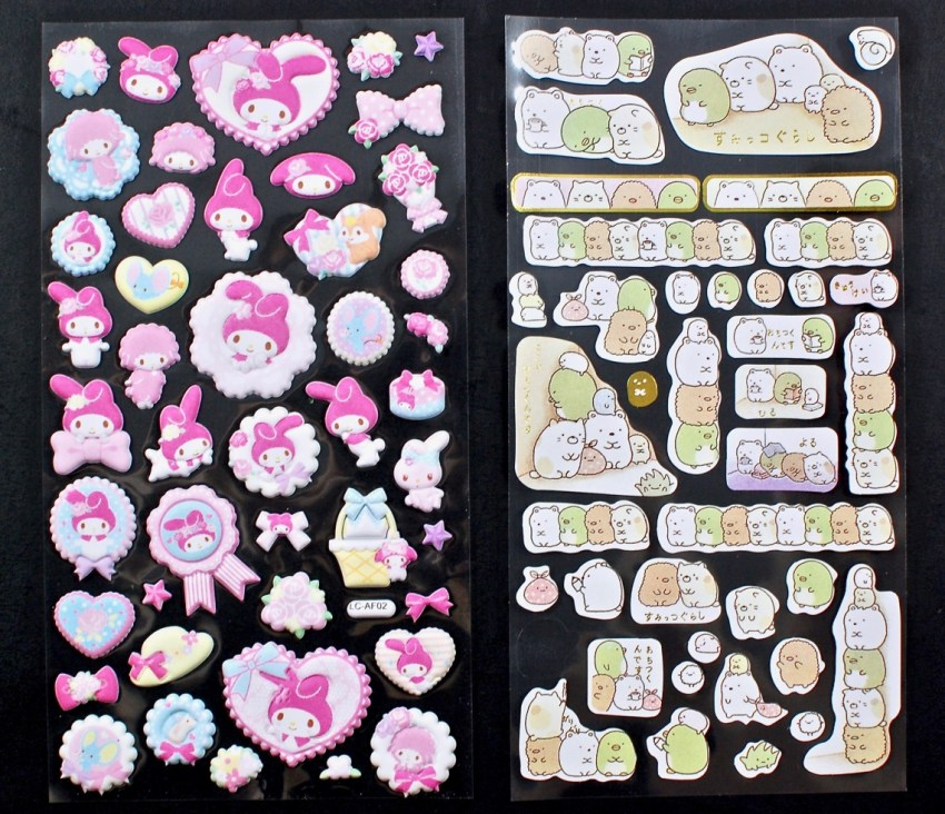 My Melody puffy stickers