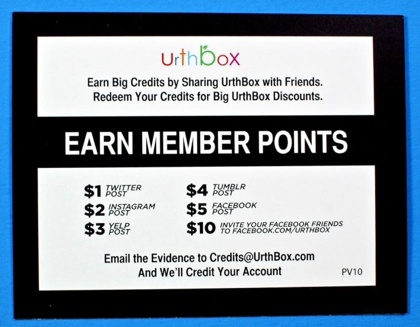Urthbox points