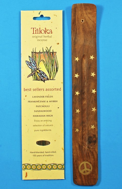 Trikola wooden holder & incense