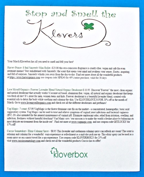 Kloverbox coupon