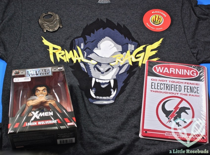 "Loot Crate March 2017 ""Primal"" Subscription Box Review & Coupon Code"