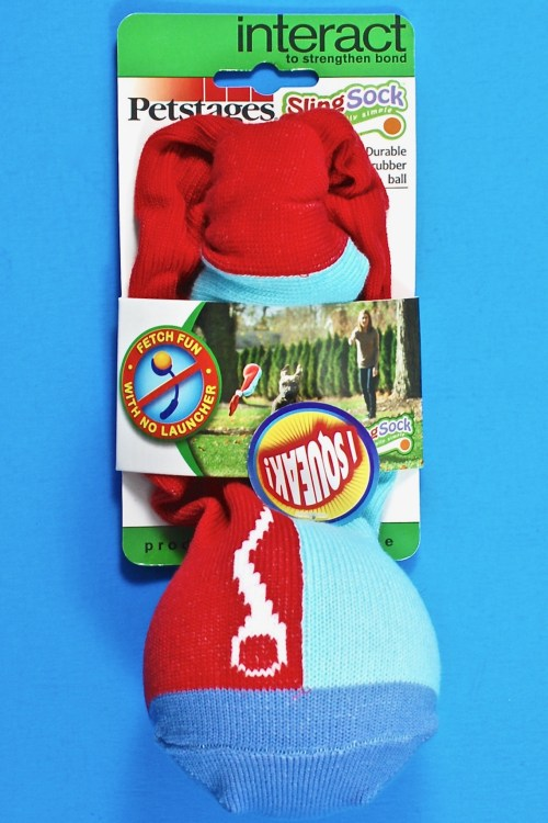 Petstages sling sock dog toy