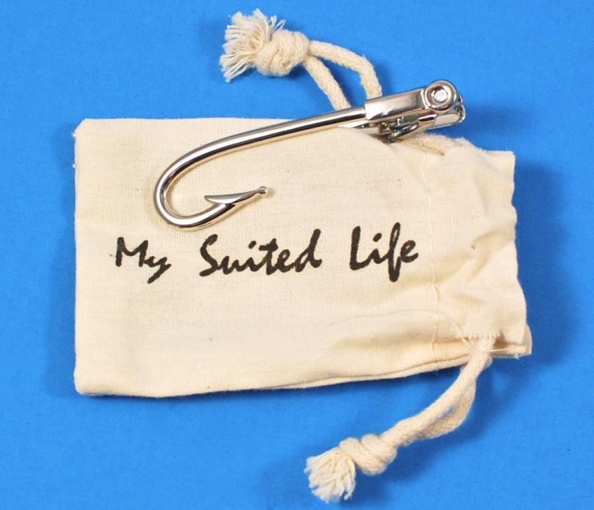 My Suited Life fish hook tie bar