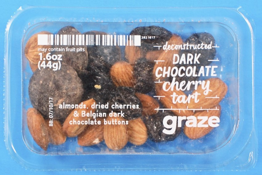 Graze chocolate cherry tart