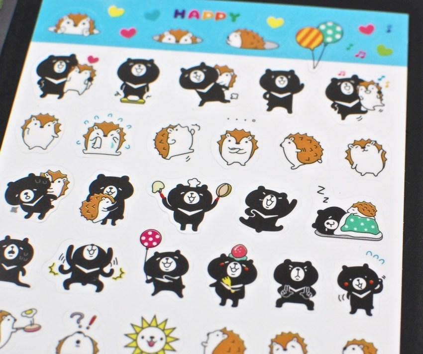 hedgehog stickers