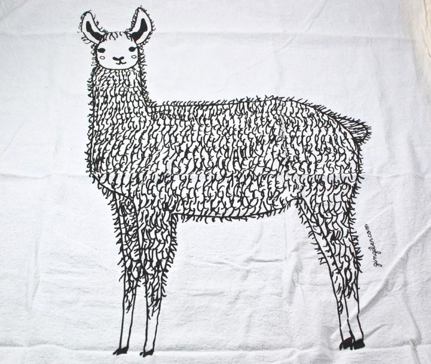 llama towel