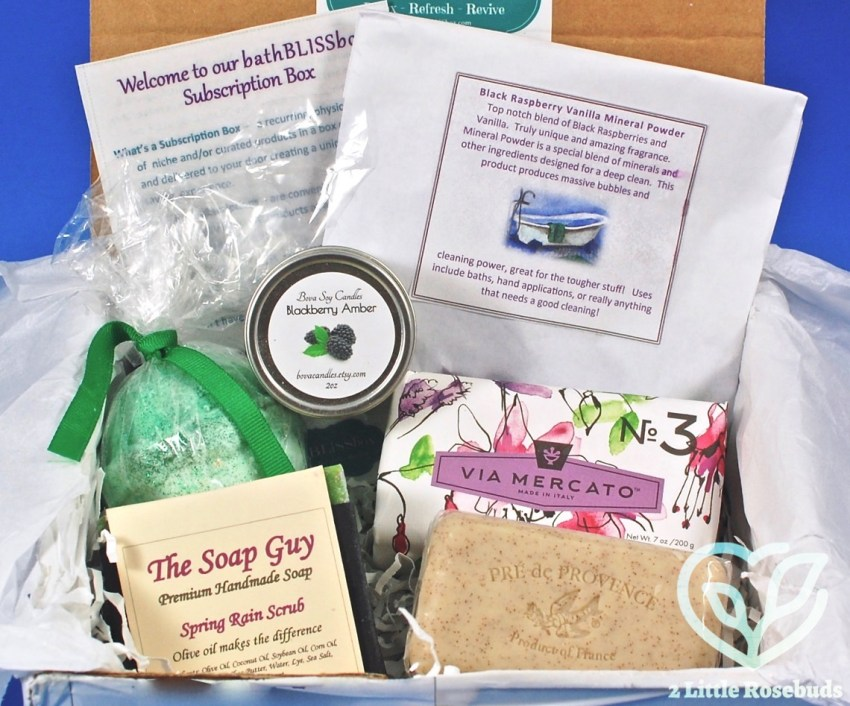 bathBLISSbox April 2017 Subscription Box Review