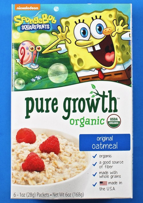 Pure Growth organic oatmeal
