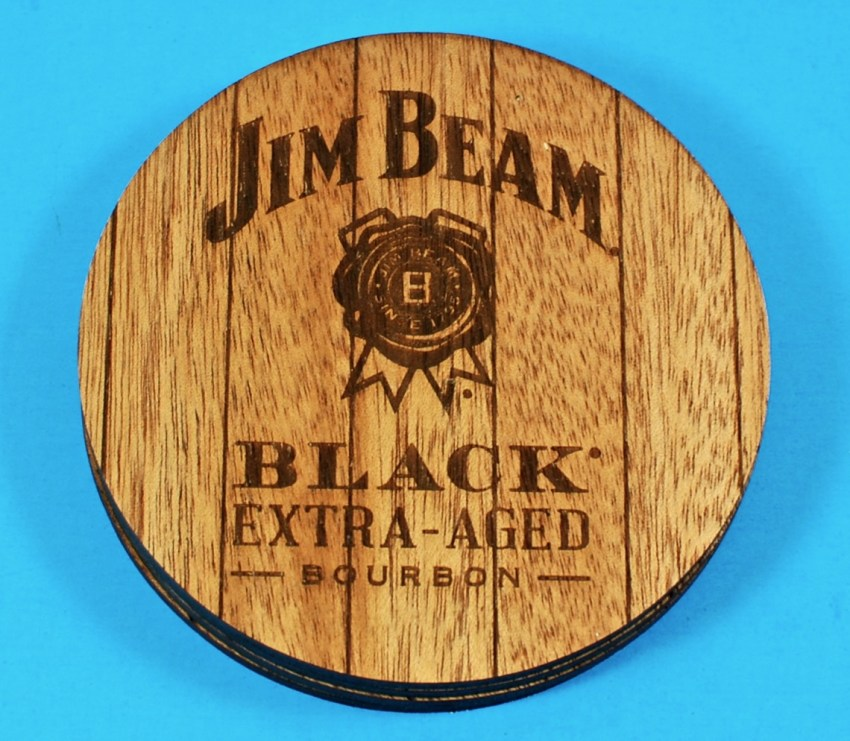 Jim Beam wood coasters