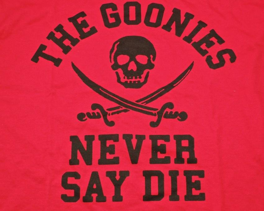 Goonies Never Say Die Loot Crate shirt