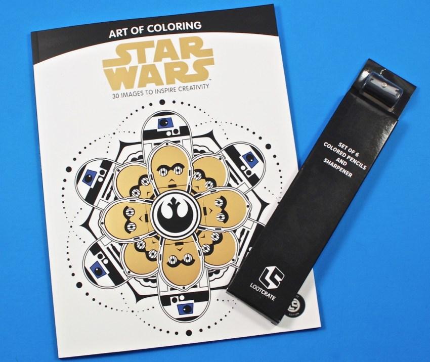 Loot Crate Star Wars coloring book