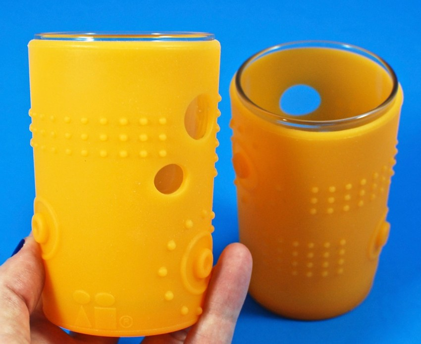 silicone glass cups