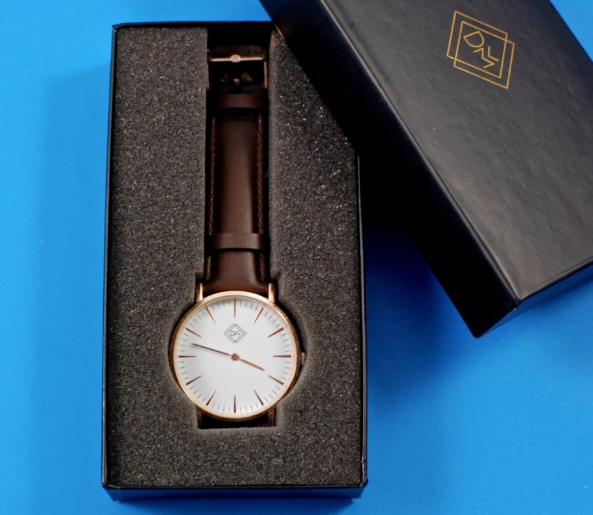 Defined Men leather watch