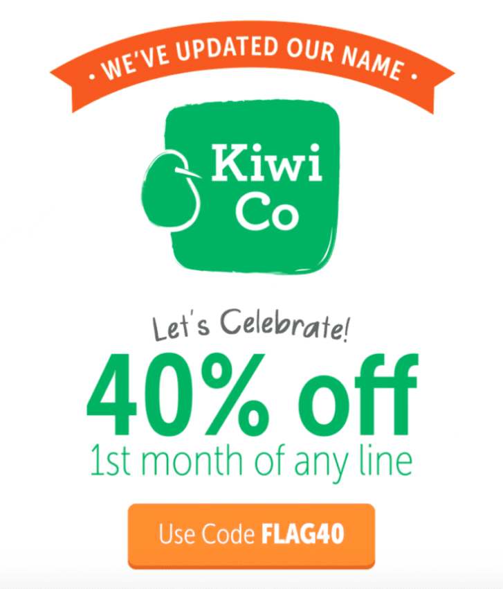 Kiwi Crate is Now Kiwi Co! – 40% Coupon Code for First Month