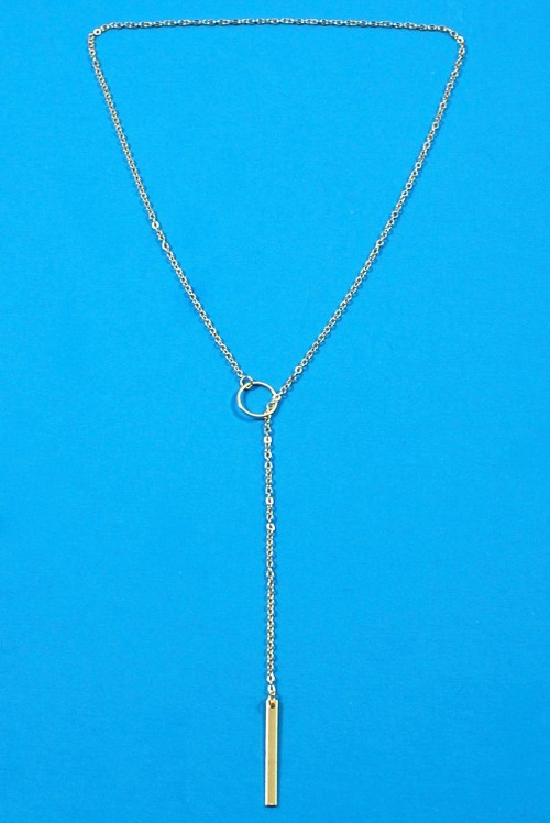 Stash lariat necklace
