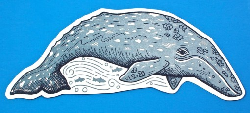 having a whale of a time card
