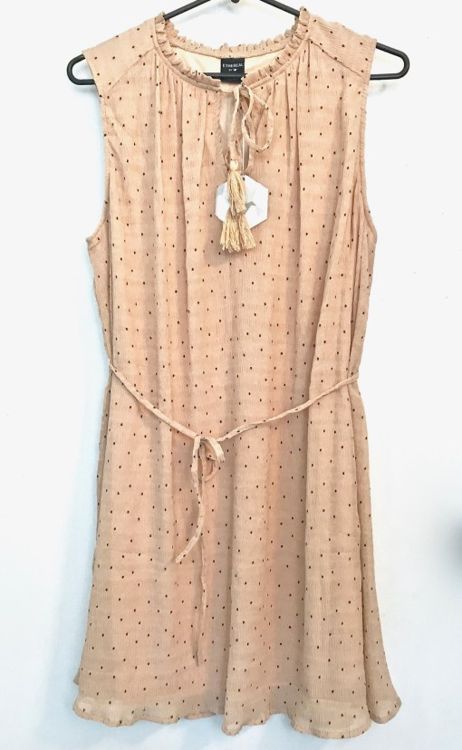 ruffle dress with belt