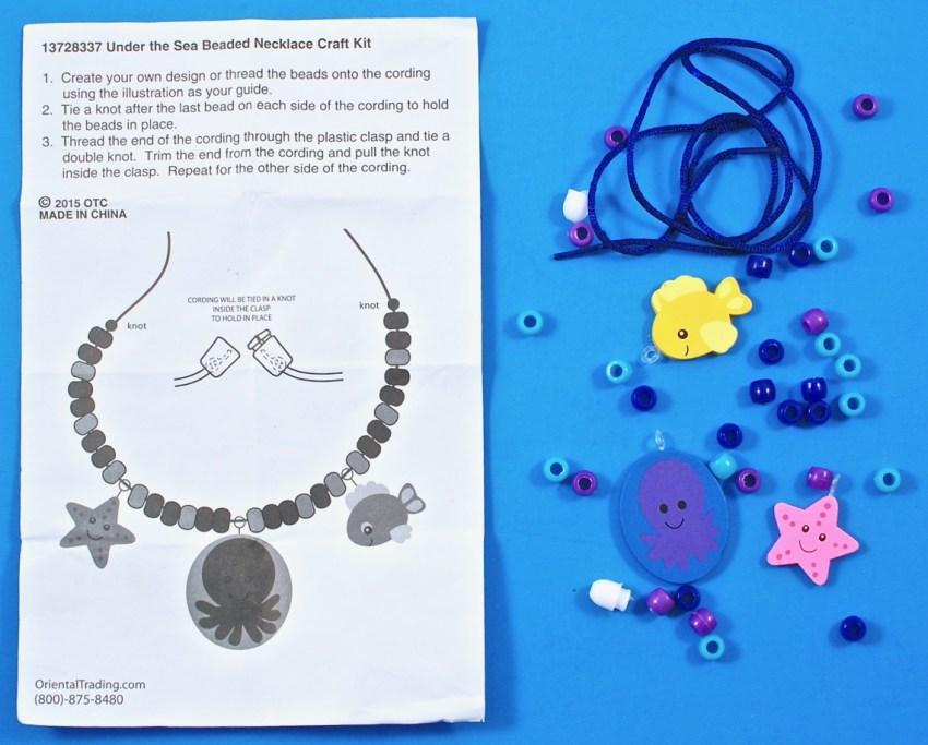 sea life necklace kit