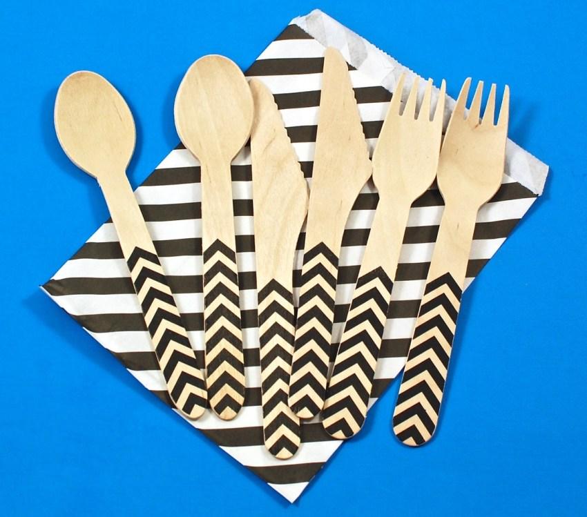 chevron utensils