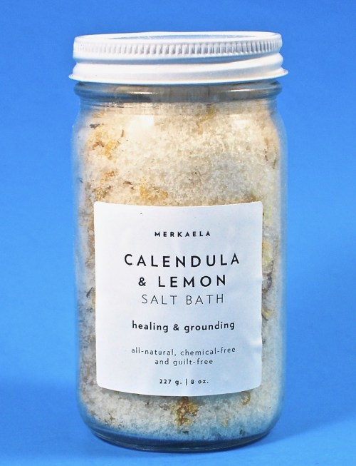 Calendula lemon bath salt