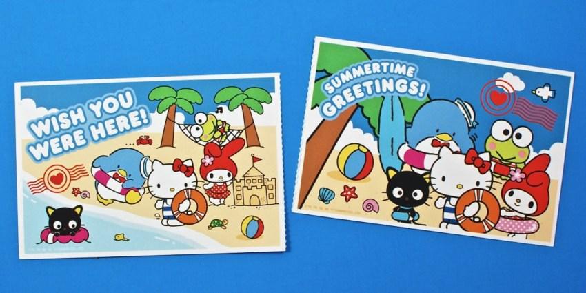 Sanrio postcards
