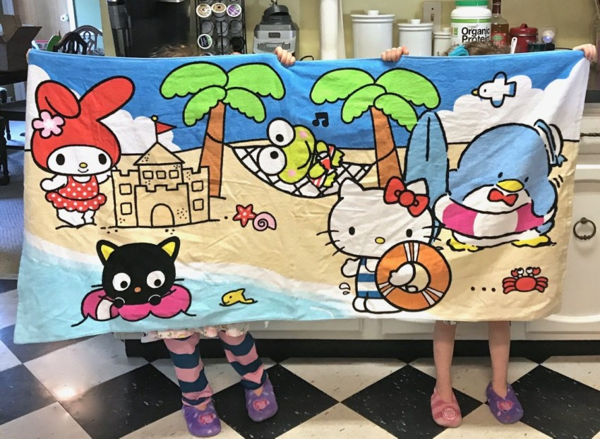 Sanrio beach towel