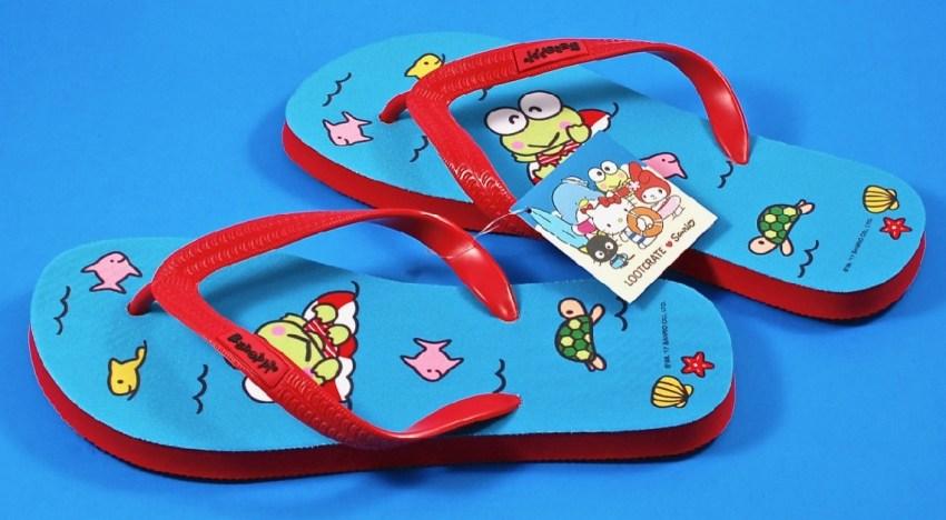 Keroppi flip flops