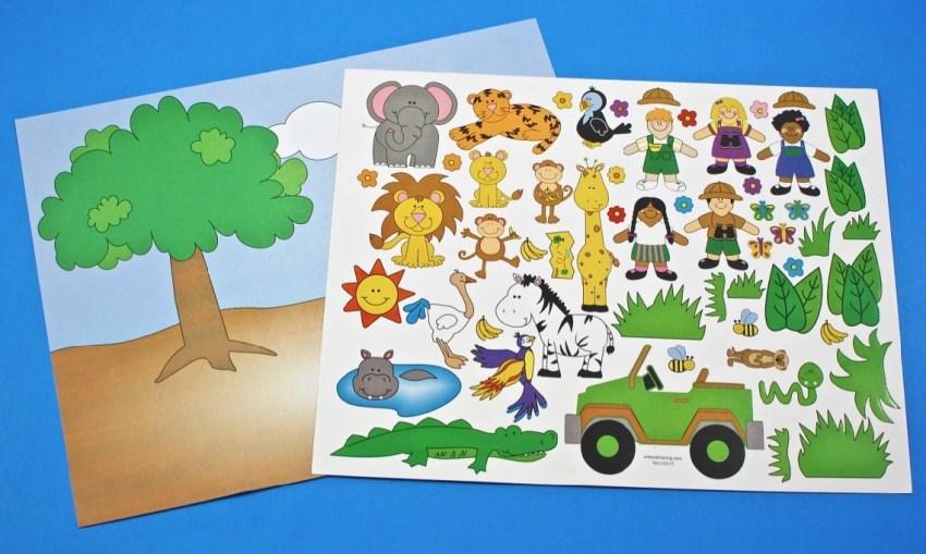 safari sticker scene