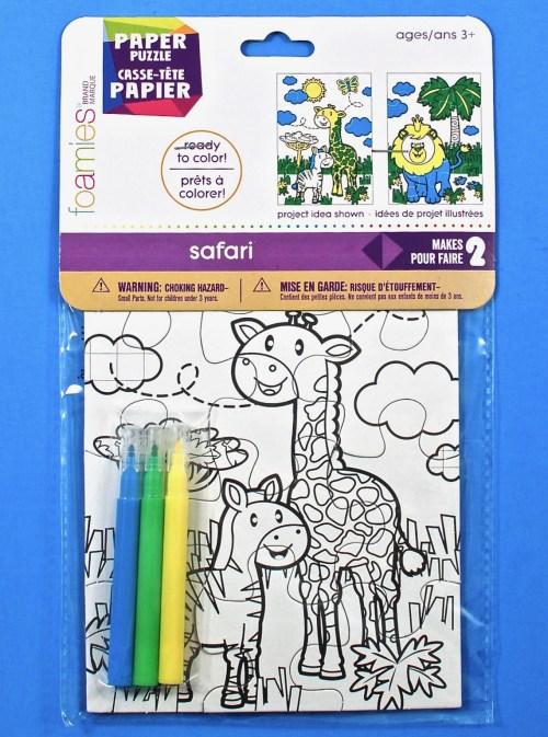 Color-in safari puzzles
