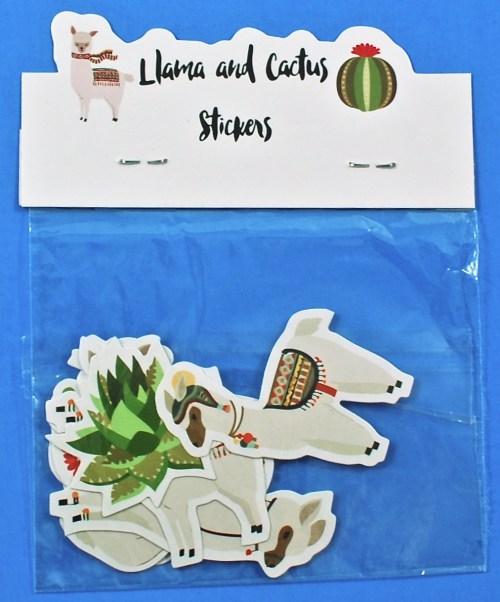 llamas and cacti stickers