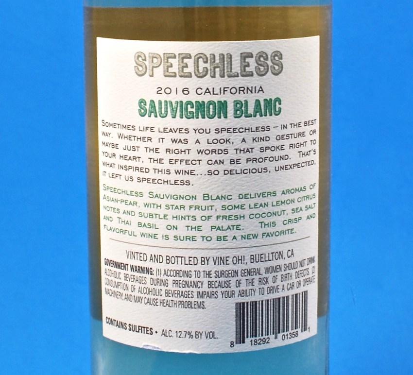 Speechless wine