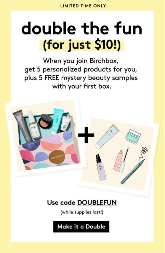 Birchbox September 2017 Coupon Code – FREE Bonus Items with Subscription!