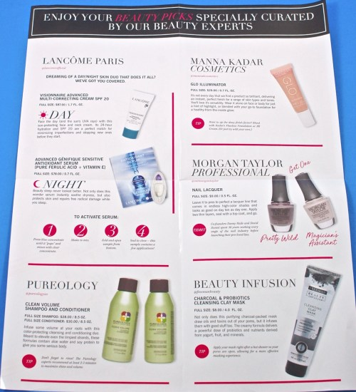 Glossybox contents